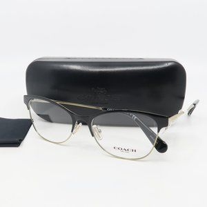 HC 5111 9346 Coach New Black/ Gold Cat Eye Women's Glasses with  case